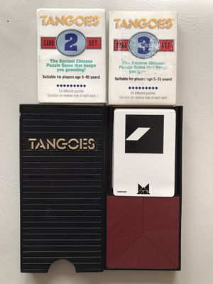 Tangoes puzzle game with additional card sets for Sale in Oakland, CA