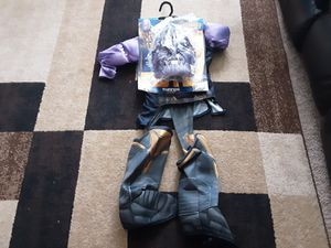 Thanos child costume size small 4 to 6 for 3 to 4 years new for Sale in Lemon Grove, CA