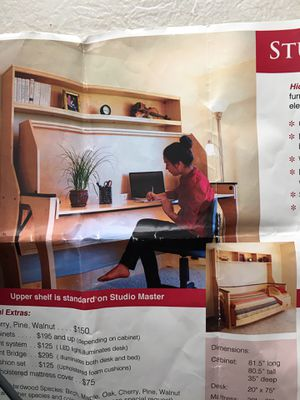 Hidden Bed with desk for Sale in Hillsboro, OR
