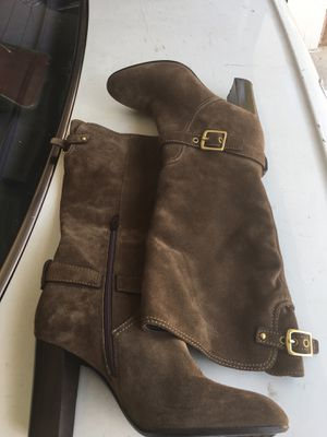 Coach Leather Suede Boots sz 5.5 Women Nice Condition for Sale in Stone Mountain, GA