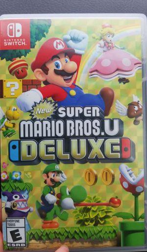 New super mario U DELUXE for switch for Sale in Santa Ana, CA