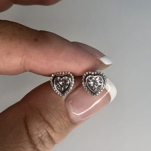 Brand New Sterling Silver 925 Earrings With CZ Diamonds for Sale in Whittier, CA