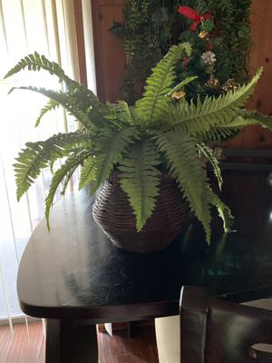Fake fern plant in wicker pot for Sale in Holiday, FL
