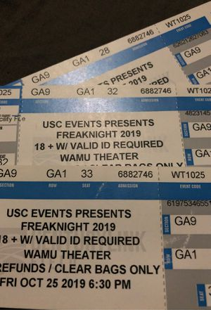 Usc events Freaknight tickets for Sale in Seattle, WA
