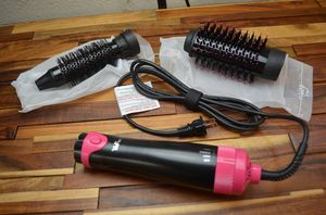 YaFex 2 in 1 interchangeable hair dryer brush dries straightens curls for Sale in Industry, CA