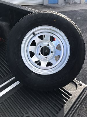 Trailer Mania has got brand new 205-75-14inch radial trailer tires on 5-lug rims. $75/each for Sale in Fort Lauderdale, FL