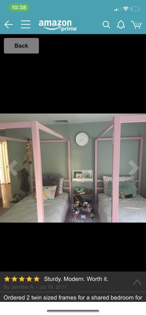 Twin Pink canopy girls bed for Sale in Land O Lakes, FL