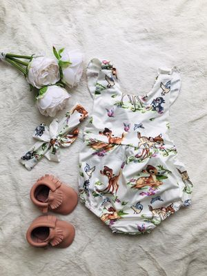Bambi Baby Girl Romper 💕 for Sale in Oxnard, CA