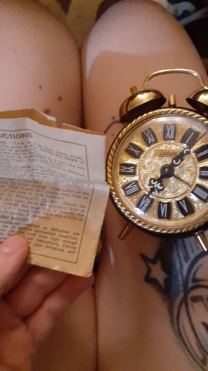 Tiny antique alarm clock for Sale in Canton, OH