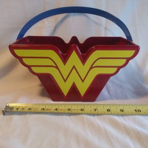Wonder Woman Bucket With Handle DC Comics Beach Pail Halloween Easter Basket for Sale in Corpus Christi, TX