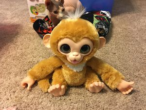 FURREAL FRIENDS - CUDDLES MY GIGGLY MONKEY - 2012 for Sale in Indianapolis, IN