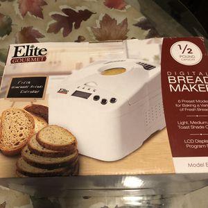 Brand new in box elite gourmet 1/2 lb bread maker for Sale in Mechanicsburg, PA