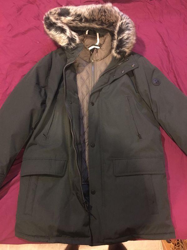 Michael Kors Men's Big & Tall Hooded Coat
