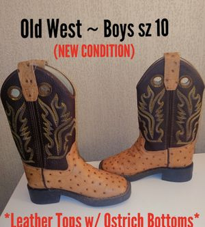 Boys leather cowboy boots for Sale in New Orleans, LA