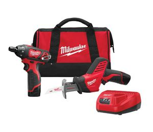 Power Tool Set Reciprocating Saw Cordless Screwdriver 2 x battery 1 Charger Carry Bag for Sale in Santa Monica, CA