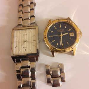 Authentic GUESS men Watches With Extra Links, The One With No Band Need Battery The Other One Works Like Brand New, Selling Cheap Needs Money Fast. for Sale in Phoenix, AZ