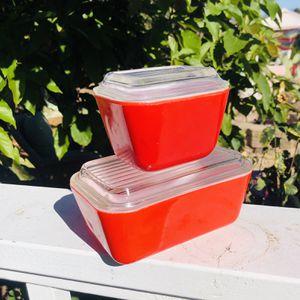VINTAGE PYREX RED FRIDGIE'S for Sale in Oceanside, CA