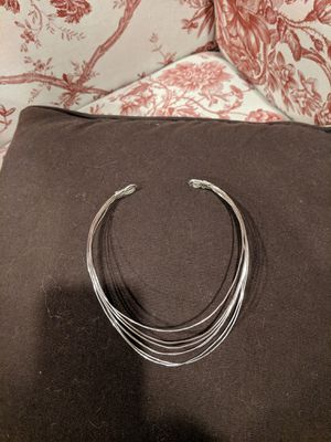 Stacked silver choker for Sale in Bolivar, WV