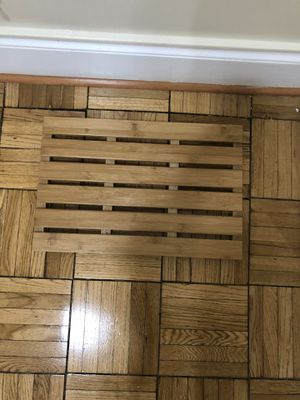 Wooden bath mat for Sale in Washington, DC