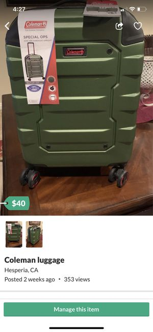 Coleman luggage for Sale in Hesperia, CA