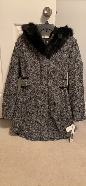 Women's small d.e.t.a.i.l.s Faux-Fur Hooded Walker Jacket—BRAND NEW WITH TAGS. Never been worn for Sale in Middletown, MD