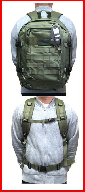 Brand NEW! Olive Green Large Tactical Backpack For Traveling/Everyday Use/Hiking/Biking/Camping/Fishing/Hunting/Work/Outdoors/Sports/Gifts for Sale in Carson, CA