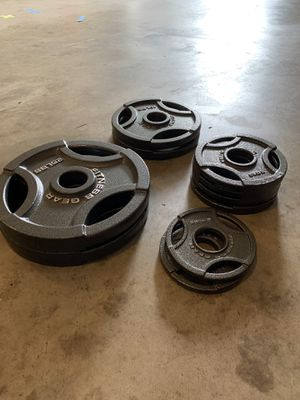 Barbell Plates 25, 10, 5 & 2.5lbs Fitness Gear for Sale in Renton, WA
