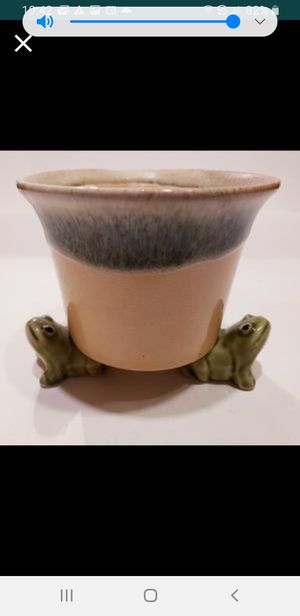 Frog-Footed Majolica Flower Pot Planter for Sale in Surprise, AZ