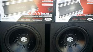 15 inch subwoofer sweet deal amps 4500 1600 new for Sale in Las Vegas, NV