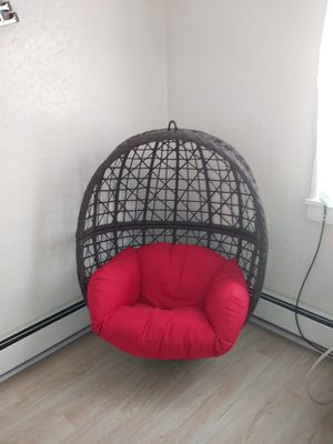 Hanging chair..no metal bar to hang..just chair for Sale in Allentown, PA