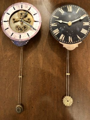Two antique reproduction clocks with pendulums for Sale in Bellevue, WA
