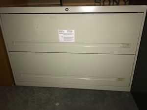 Heavy duty steel horizontal filing cabinet for Sale in Alexandria, VA