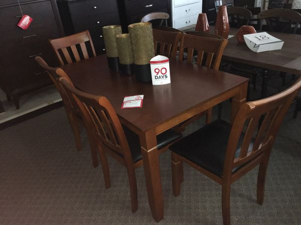 7pcs Dining Table Set We Offer No Credit Check Financing