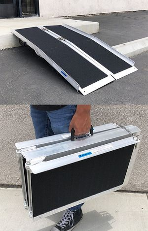"""New in box $100 Non-Skid 4' ft Aluminum Portable Wheelchair Scooter Mobility Folding Ramp (48x28"""") for Sale in El Monte, CA"""