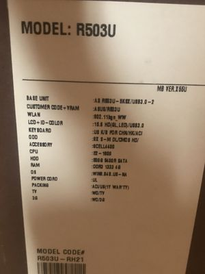 """ASUS 15.6"""" Notebook PC for Sale in Austin, TX"""