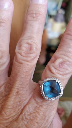 Beautiful blue topaz ring for Sale in Reynoldsburg, OH