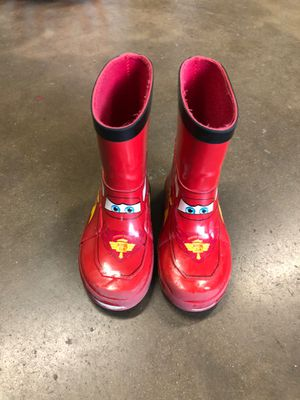 Cars kids rainboots. Size 7. for Sale in Whittier, CA