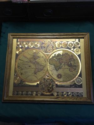 Planisphaerium Terrestre VTG Gold Foul World Map for Sale in Mission Viejo, CA