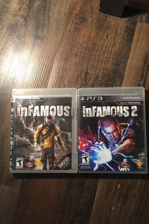 Infamous 1&2 for PS3 for Sale in Lynchburg, VA