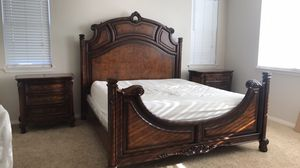 California King bed-frame and 2 nightstands (no mattress) for Sale in Chino, CA