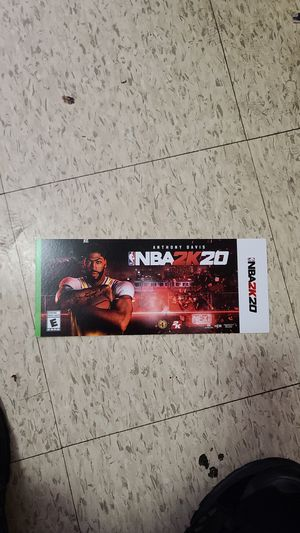 NBA2k20 digital download $15 OBO You can cashapp and the code could be sent via text or email for Sale in North Providence, RI
