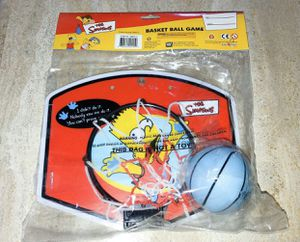 The Simpsons Basketball Game Basket Ball Game Bart Simpson Mini Bball Hoop 2001 for Sale in Des Plaines, IL