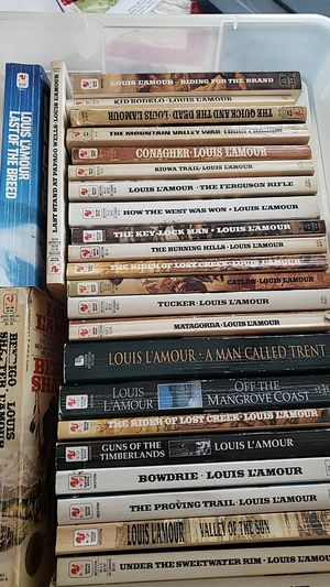Louis L'Amour western books for Sale in Madera, CA