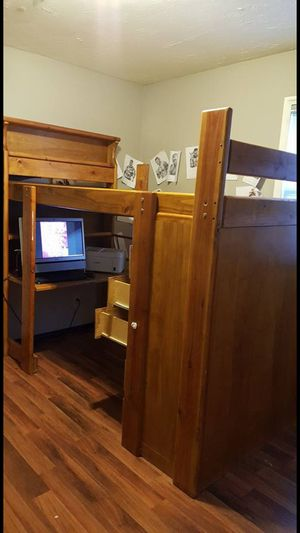 Twin bed, dresser and desk for Sale in Salt Lake City, UT