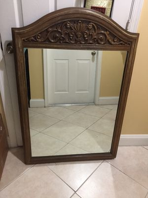 Antique Wall Mirror for Sale in West Palm Beach, FL