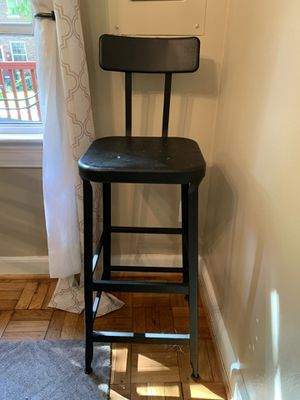 Tall Antique Black Metal Chair for Sale in Arlington, VA