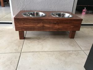 Custom made dog bowl stand for Sale in Hialeah, FL