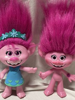 Hasbro Pink Hair Poppy Singing Trolls Lot Of 2 for Sale in Sherman,  TX