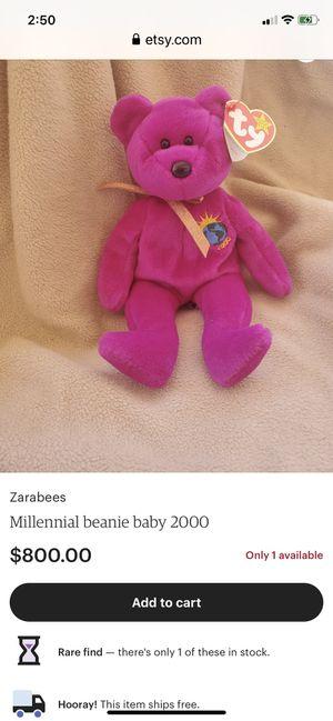Millennium ty beanie baby mint condition. $100 obo for Sale in Deerfield Beach, FL
