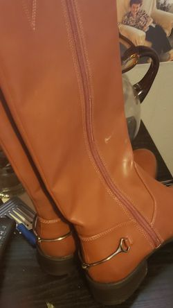 Tan Leather Cowboy Spur Boot for Sale in Harrah,  OK